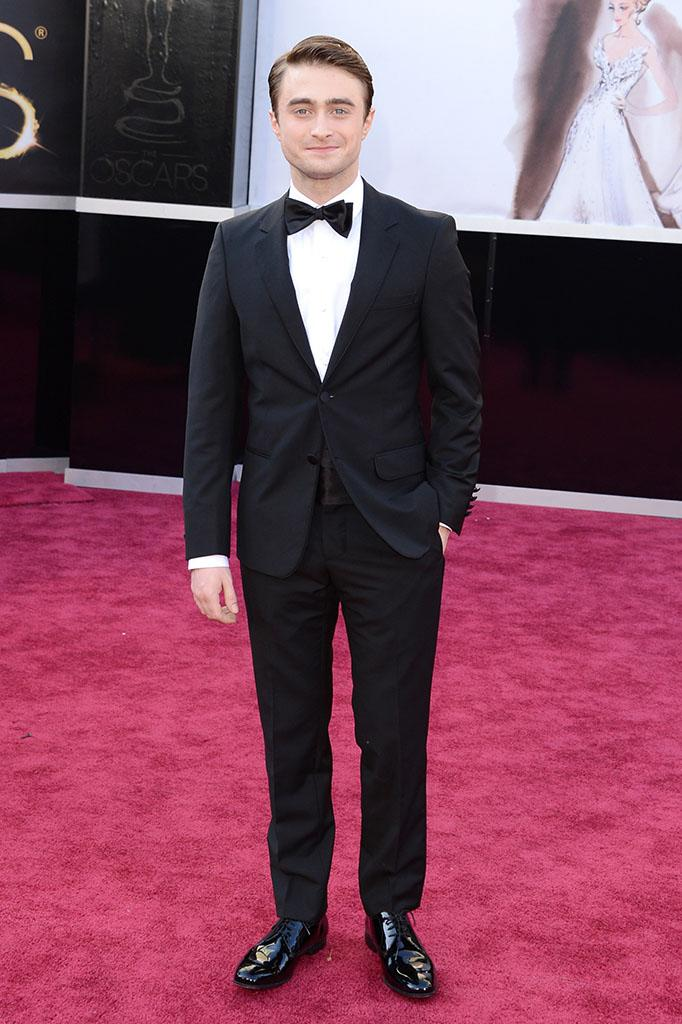Daniel Radcliffe arrives at the Oscars in Hollywood, California, on February 24, 2013.