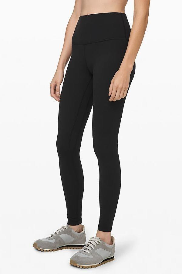 """<p><strong>Lululemon</strong></p><p>lululemon.com</p><p><strong>$98.00</strong></p><p><a href=""""https://go.redirectingat.com?id=74968X1596630&url=https%3A%2F%2Fshop.lululemon.com%2Fp%2Fwomen-pants%2FAlign-Pant-Full-Length-28%2F_%2Fprod8780551%3Fcolor%3D0001&sref=https%3A%2F%2Fwww.goodhousekeeping.com%2Fclothing%2Fg27206929%2Fbest-black-leggings%2F"""" rel=""""nofollow noopener"""" target=""""_blank"""" data-ylk=""""slk:Shop Now"""" class=""""link rapid-noclick-resp"""">Shop Now</a></p><p>For starters, this pair is <em>so</em> incredibly comfortable. <strong>T</strong><strong>he fabric is buttery soft, lightweight, and fits like a glove. </strong>It also has a high-rise waistband that's smoothing, yet it doesn't feel constricting at all (and it comes in a <a href=""""https://go.redirectingat.com?id=74968X1596630&url=https%3A%2F%2Fshop.lululemon.com%2Fp%2Fwomen-pants%2FAlign-Pant-Super-Hi-Rise-28%2F_%2Fprod9200552&sref=https%3A%2F%2Fwww.goodhousekeeping.com%2Fclothing%2Fg27206929%2Fbest-black-leggings%2F"""" rel=""""nofollow noopener"""" target=""""_blank"""" data-ylk=""""slk:super-high rise"""" class=""""link rapid-noclick-resp"""">super-high rise</a> version if this one isn't high enough for you).</p><p>Lululemon is definitely expensive, but you'll get lots of use out of these leggings. They're not only perfect for studio workouts like yoga, but they're also ideal as <a href=""""https://www.goodhousekeeping.com/clothing/g32006182/best-loungewear-brands/"""" rel=""""nofollow noopener"""" target=""""_blank"""" data-ylk=""""slk:loungewear"""" class=""""link rapid-noclick-resp"""">loungewear</a> and everyday use. This style in particular is so popular that it's available in lots of variations including different pant lengths and plenty of colors and prints.</p>"""