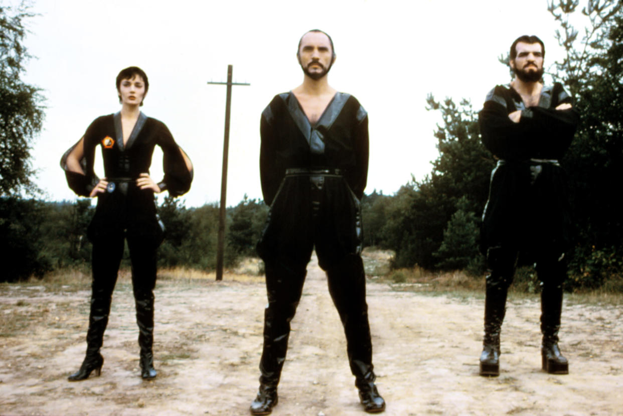 From left to right: Sarah Douglas as Ursa, Terence Stamp as Zod, and Jack O'Halloran as Non in 'Superman II' (Photo: Warner Brothers/Courtesy: Everett Collection)