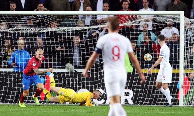 Zdenek Ondrasek stunned England with a late goal in Prague (Nick Potts/PA)