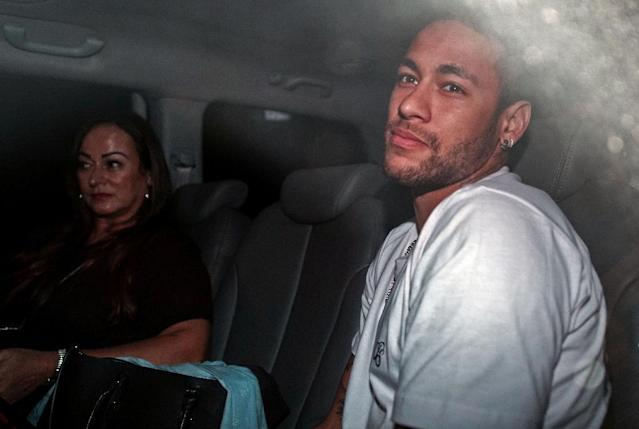 Neymar has been recovering from foot surgery back in his native Brazil (AFP Photo/NELSON ALMEIDA)