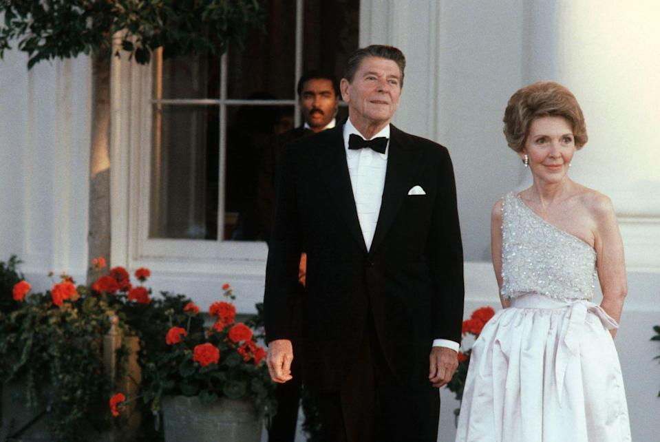 "<p>Oh, Nancy. Reagan <a href=""http://www.nytimes.com/1988/10/18/us/first-lady-expresses-regrets-on-wardrobe.html"" rel=""nofollow noopener"" target=""_blank"" data-ylk=""slk:secretly"" class=""link rapid-noclick-resp"">secretly</a> ""borrowed"" $2,000 Adolfo suits and $22,000 Galanos gowns despite warnings by White House lawyers that this had to be disclosed under the Ethics in Government Act. So, pretty much every time Reagan walked into public in a gown or a seemingly nicer outfit she was scrutinized.</p>"