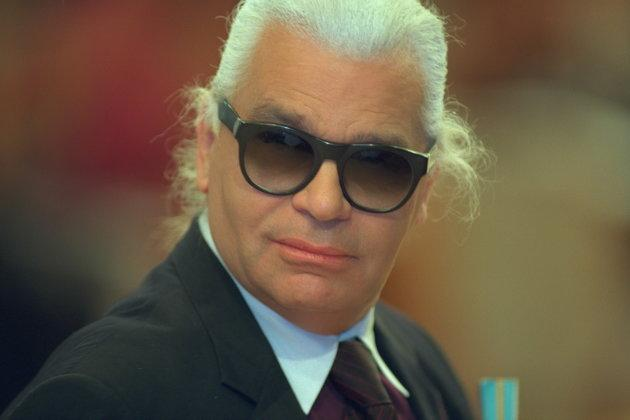 Karl Lagerfeld in 1999, before his dramatic weight loss.
