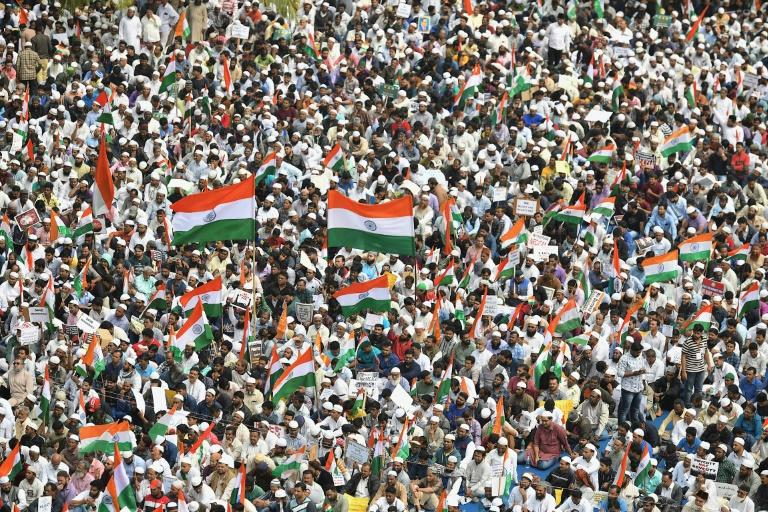 A new citizenship law has caused widespread protests in India (AFP Photo/Manjunath Kiran)