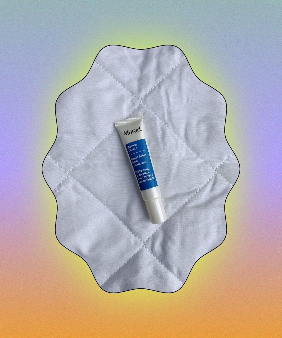"""Under-the-skin bumps and pesky whiteheads don't stand a chance against this spot treatment, which has cleared up my skin dramatically. Two percent salicylic acid brings down inflammation and redness fast while exfoliating inside the pore to unclog. It's my secret weapon.<br><br><strong>Murad</strong> Rapid Relief Spot Treatment, $, available at <a href=""""https://www.lookfantastic.com/murad-rapid-relief-spot-treatment-15ml/11502949.html"""" rel=""""nofollow noopener"""" target=""""_blank"""" data-ylk=""""slk:LookFantastic"""" class=""""link rapid-noclick-resp"""">LookFantastic</a>"""