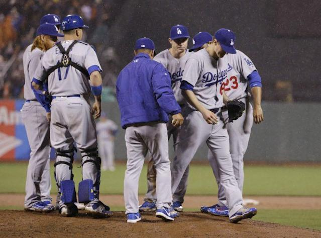 Dave Roberts pulled Ross Stripling during a no-hitter in 2016. (AP)