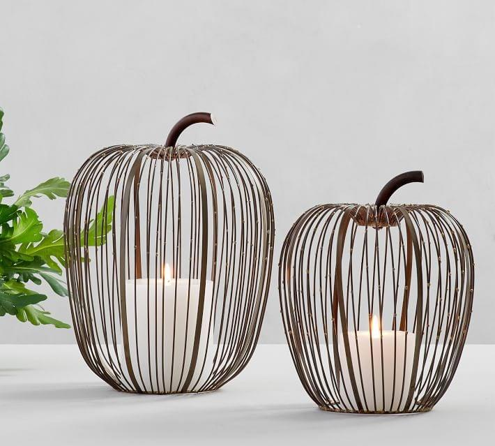 <p>The <span>Beaded Wire Pumpkin</span> ($50-$59) will work with any decor style.</p>
