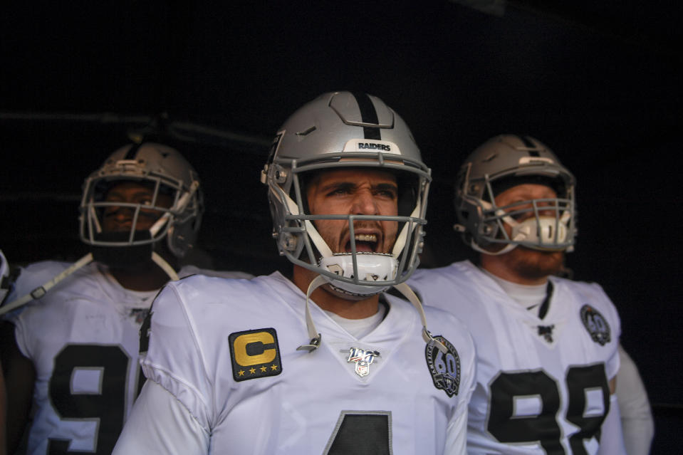 Derek Carr is tired of being disrespected and is tired of people underestimating his team. (Photo by AAron Ontiveroz/MediaNews Group/The Denver Post via Getty Images)