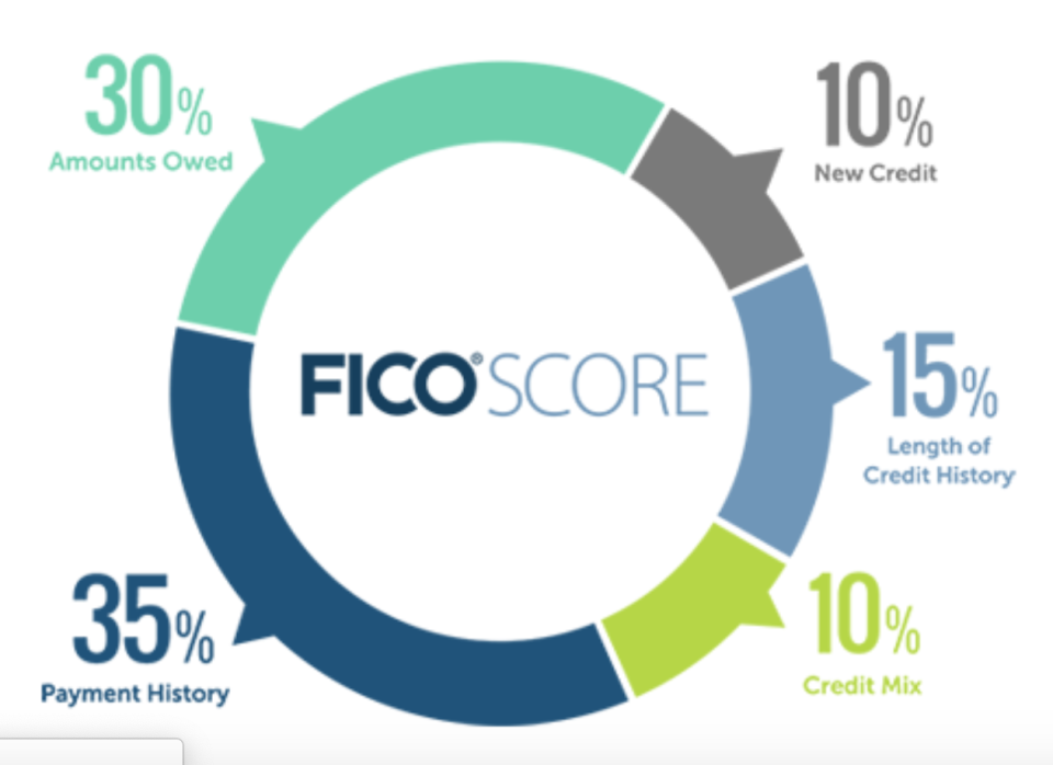 These are the components that make up your FICO credit score that lenders often use to approve you for new credit.