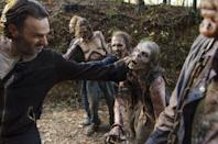 "<p><strong><a class=""link rapid-noclick-resp"" href=""https://www.popsugar.com/The-Walking-Dead"" rel=""nofollow noopener"" target=""_blank"" data-ylk=""slk:The Walking Dead"">The Walking Dead</a></strong> is more about human relationships than scary zombies, but there are still truckloads of walkers. The series's popularity has waned over the years, but it's still good for a jump-scare every now and then . . . and maybe a good cry.</p> <p><strong>Scare factor:</strong> 😱 😱 😱</p>"