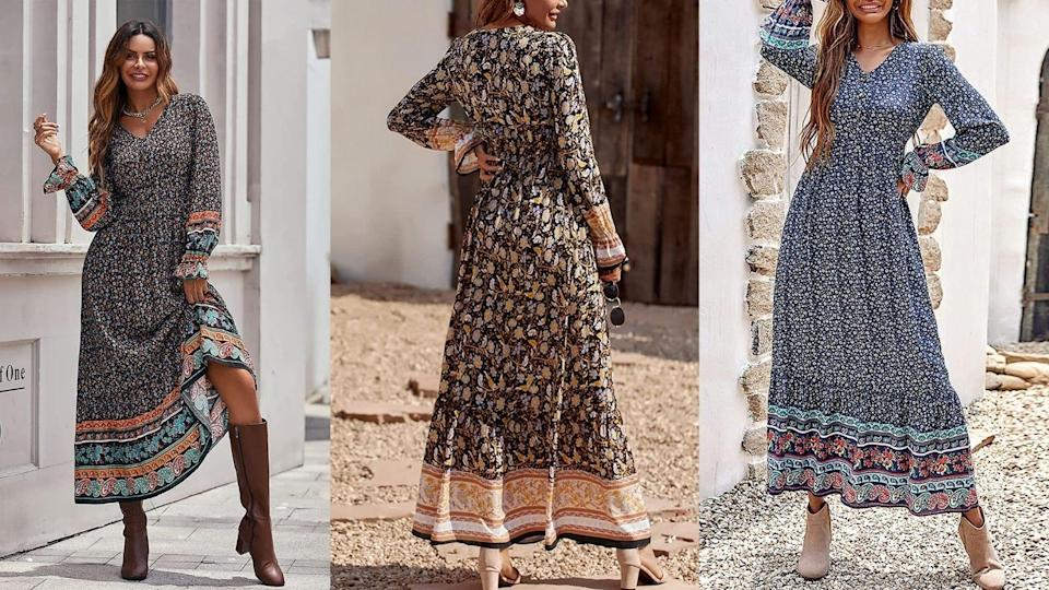 This vintage-inspired boho dress is down-to-earth and easy to style.