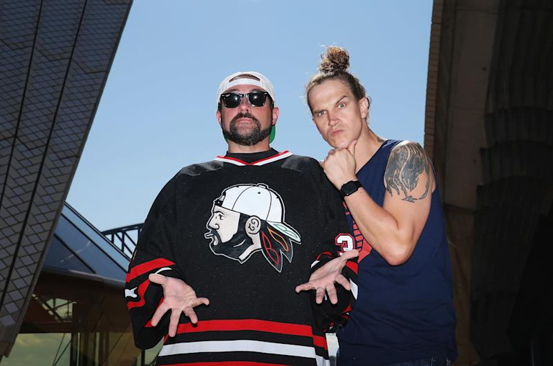 Kevin Smith and Jason Mewes, aka Silent Bob and Jay. (Photo: Don Arnold via Getty Images)