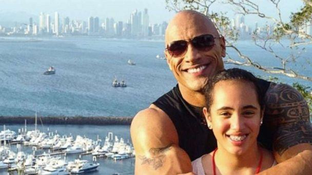 PHOTO: Actor Dwayne 'The Rock' Johnson posted this photo with his daughter Simone to Instagram on her birthday. (therock/Instagram)