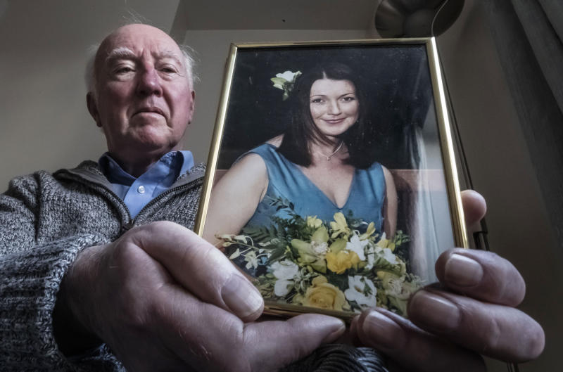 File photo dated 12/3/2019 of Peter Lawrence, at his home near York, holding a photograph of his daughter Claudia. The search for the chef could be being hampered by the withholding of vital information, police have said 10 years after she was last seen.