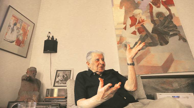 Akbar Padamsee, remembering Akbar Padamsee, artist, art, exhibitions, paintings, Krishen Khanna, Eye 2020, Sunday Eye, Indian Express, Indian Express news