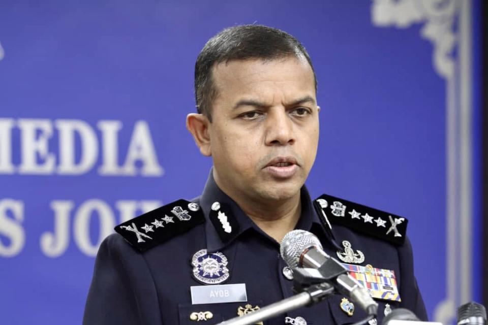 Johor police chief Datuk Ayob Khan Mydin Pitchay said another seven male youths were arrested yesterday in connection with the provocative flash mob protest in Parit Raja last week. — Picture by Ben Tan