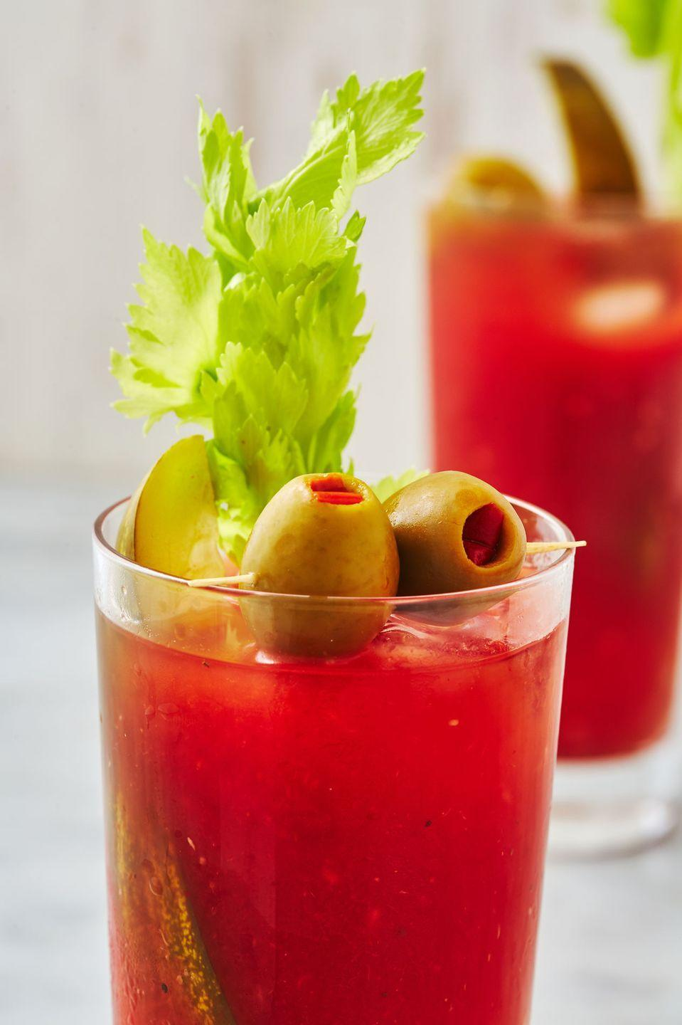"""<p>This Blood Mary recipe transforms standard pantry staples into the quintessential day drink.</p><p> Get the recipe from <a href=""""https://www.delish.com/cooking/recipe-ideas/a29125240/classic-bloody-mary-recipe/"""" rel=""""nofollow noopener"""" target=""""_blank"""" data-ylk=""""slk:Delish"""" class=""""link rapid-noclick-resp"""">Delish</a>.</p>"""