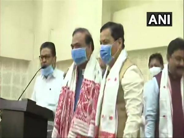 Himanta Biswa Sarma was elected as the leader of the BJP legislative party in Assam on Sunday in Guwahati. [Photo/ANI]