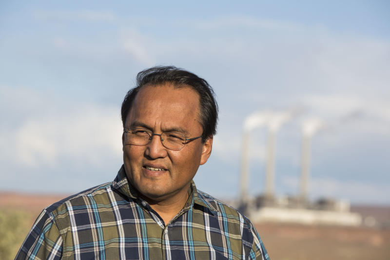 Erwin Marks is facing the prospect of yet another relocation if and when Navajo Generating Station closes down. (Nick Oza for HuffPost)