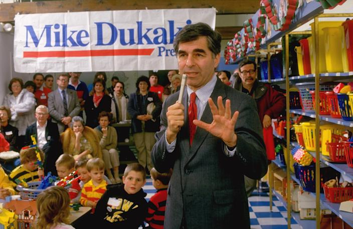 1988 Democratic presidential hopeful Gov. Michael Dukakis in Davenport, Iowa, in 1987. (Photo: Steve Liss/the Life Images Collection via Getty Images/Getty Images)
