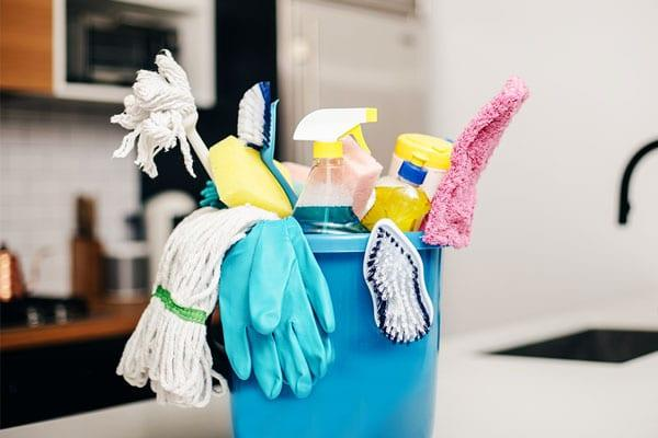 Cleaning Supply Bucket Kitchen Counter