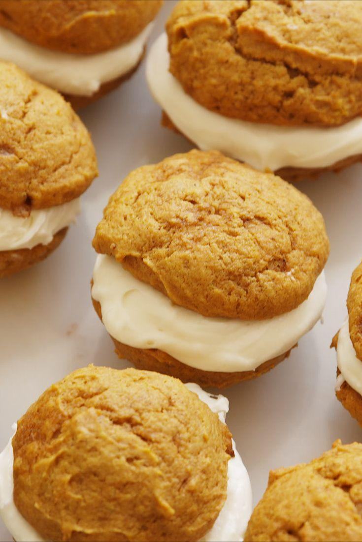 """<p>We're calling it: This is THE ultimate fall dessert.</p><p>Get the recipe from <a href=""""https://www.delish.com/cooking/recipes/a55263/pumpkin-whoopie-pies-recipe/"""" rel=""""nofollow noopener"""" target=""""_blank"""" data-ylk=""""slk:Delish"""" class=""""link rapid-noclick-resp"""">Delish</a>.</p>"""