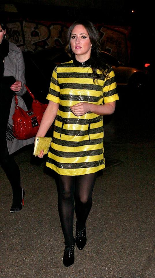 """Instead of donning tartan, Scottish singer-songwriter KT Tunstall opts to wear a yellow and black sequined frock to the Elle Style Awards in London. JAB Promotions/<a href=""""http://www.wireimage.com"""" target=""""new"""">WireImage.com</a> - February 12, 2008"""