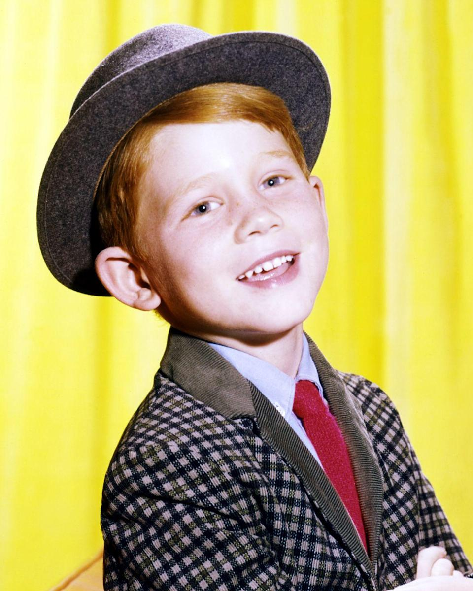 "<p>Another <em>Happy Days</em> alum, Ron Howard first got his start as <a href=""https://www.goodhousekeeping.com/beauty/hair/g2441/red-hair-color-ideas/"" rel=""nofollow noopener"" target=""_blank"" data-ylk=""slk:adorable redhead"" class=""link rapid-noclick-resp"">adorable redhead</a> Opie Taylor on <em>The Andy Griffith Show</em> before moving onto his role as Richie Cunningham.</p>"