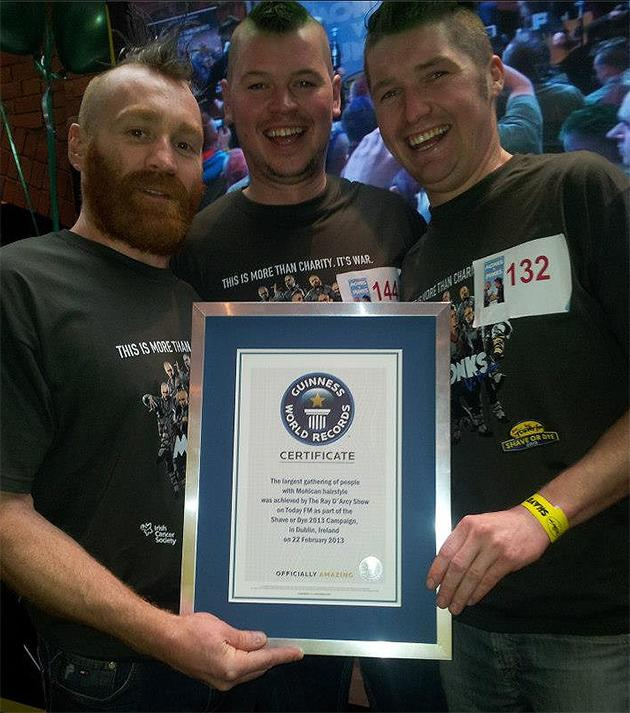 Shave or Dye Guiness Book of Records