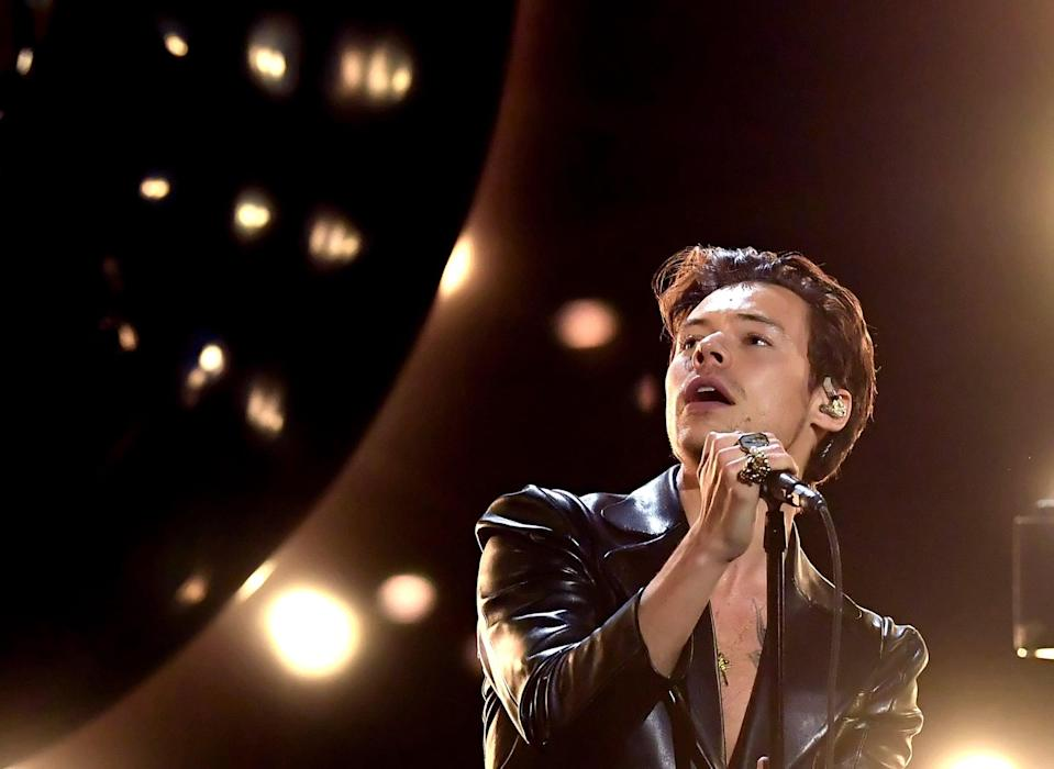 <p>Check out more photos of Harry's Grammys looks ahead.</p>