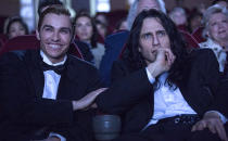 """<p><a rel=""""nofollow"""" href=""""https://www.yahoo.com/movies/tagged/james-franco"""" data-ylk=""""slk:James Franco"""" class=""""link rapid-noclick-resp"""">James Franco</a> directs, produces, and stars in this lovingly crafted dramatization of how <a rel=""""nofollow"""" href=""""https://www.yahoo.com/movies/tagged/tommy-wiseau"""" data-ylk=""""slk:Tommy Wiseau"""" class=""""link rapid-noclick-resp"""">Tommy Wiseau</a>'s legendarily awful 2003 movie <a rel=""""nofollow"""" href=""""https://www.yahoo.com/movies/film/the-room"""" data-ylk=""""slk:The Room"""" class=""""link rapid-noclick-resp""""><em>The Room</em></a> came to be. And so far, unlike their reaction to <em>The Room</em>, critics are loving it. 
