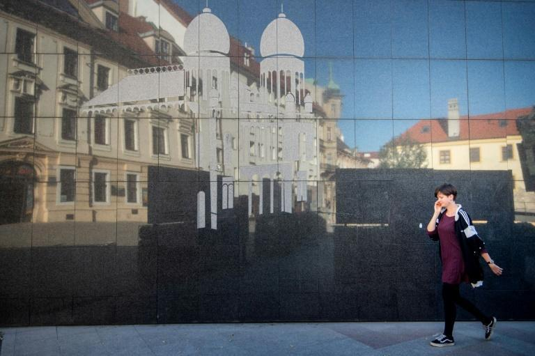 The synagogue was demolished by the Communist government to make room for a bridge (AFP/VLADIMIR SIMICEK)
