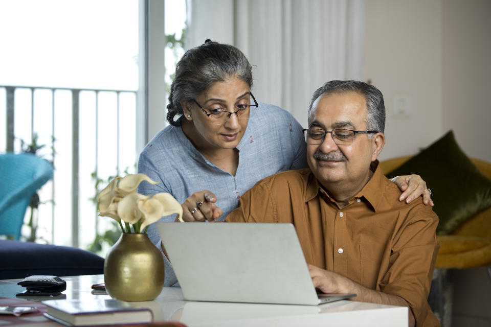 Financial experts encourage a retirement plan stress test for multiple outcomes relating to health, employment, and living expenses, and when to file for Social Security benefits, which should be treated as a supplement to savings. (Photo: Getty)