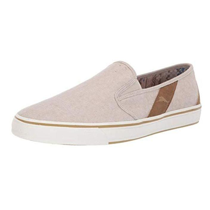"""<p><strong>Tommy Bahama</strong></p><p>amazon.com</p><p><a href=""""https://www.amazon.com/dp/B07J5PPTL9?tag=syn-yahoo-20&ascsubtag=%5Bartid%7C2139.g.20087309%5Bsrc%7Cyahoo-us"""" rel=""""nofollow noopener"""" target=""""_blank"""" data-ylk=""""slk:BUY IT HERE"""" class=""""link rapid-noclick-resp"""">BUY IT HERE</a></p><p>These slip-ons were made to be worn near sand. Or, at least to your backyard. Wear them for those times where you're trying to pull your swim trunks off as actual pants.</p>"""
