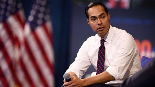 PHOTO: Julian Castro listens to a question during the Presidential Gun Safety Forum in Las Vegas, on Oct. 2, 2019. (Bloomberg via Getty Images, FILE)