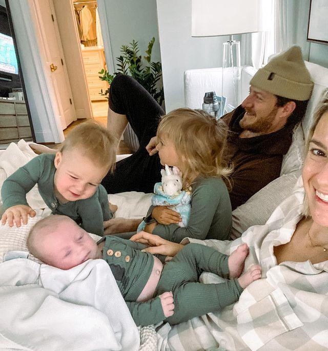 """<p>The Florida Georgia Line musician and his wife Hayley spent the morning watching the Macy's Thanksgiving Day Parade with their kids — daughter <a href=""""https://people.com/parents/florida-georgia-line-tyler-hubbard-welcomes-daughter-olivia-rose-first-photo/"""" rel=""""nofollow noopener"""" target=""""_blank"""" data-ylk=""""slk:Olivia Rose"""" class=""""link rapid-noclick-resp"""">Olivia Rose</a>, 2½, and sons <a href=""""https://people.com/parents/florida-georgia-line-tyler-hubbard-welcomes-son-luca-reed-first-photo/"""" rel=""""nofollow noopener"""" target=""""_blank"""" data-ylk=""""slk:Luca Reed"""" class=""""link rapid-noclick-resp"""">Luca Reed</a>, 15 months, and <a href=""""https://people.com/parents/florida-georgia-line-tyler-hubbard-welcomes-son-atlas-roy-exclusive/"""" rel=""""nofollow noopener"""" target=""""_blank"""" data-ylk=""""slk:Atlas Roy"""" class=""""link rapid-noclick-resp"""">Atlas Roy</a>, 9 weeks.</p> <p>""""GRATEFUL for our family and all the chaos in our life right now, among a zillion other things. We got to watch the Thanksgiving day parade for 5 minutes together before kids went haywire and that feels like a victory. Wishing everyone a very Happy Thanksgiving wherever and however you're celebrating this year!🍁 <a href=""""https://www.instagram.com/explore/tags/gratitude/"""" rel=""""nofollow noopener"""" target=""""_blank"""" data-ylk=""""slk:#gratitude"""" class=""""link rapid-noclick-resp"""">#gratitude</a> <a href=""""https://www.instagram.com/explore/tags/thanksgiving/"""" rel=""""nofollow noopener"""" target=""""_blank"""" data-ylk=""""slk:#thanksgiving,&quot;"""" class=""""link rapid-noclick-resp"""">#thanksgiving,""""</a> the mom of 3 wrote <a href=""""https://www.instagram.com/p/CID0_reDa6J/"""" rel=""""nofollow noopener"""" target=""""_blank"""" data-ylk=""""slk:on Instagram."""" class=""""link rapid-noclick-resp"""">on Instagram.</a></p>"""