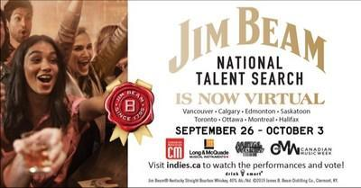 Canadian Music Week is pleased to announce the Jim Beam National Talent Search Tour will take place virtually September 26 – October 3, 2020, with 30-minute episodes spotlighting five bands from eight Canadian cities. (CNW Group/Canadian Music Week)