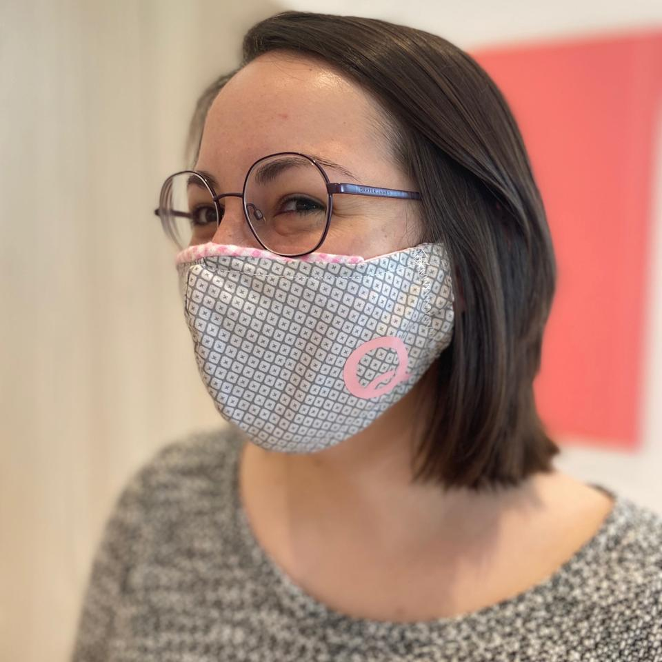 3. Quirk Hotel Jess Gabba Quirk Front Office Manager Wearing A Signature Quirk Mask