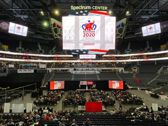 A media walkthrough for the 2020 Republican National Convention in Charlotte, N.C. (Reuters/Jim Bourg)
