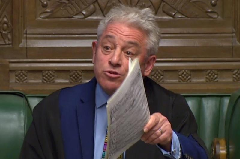 "John Bercow, the speaker of parliament, has been dubbed the ""Brexit destroyer"" by the pro-Brexit media in Britain (AFP Photo/HO)"