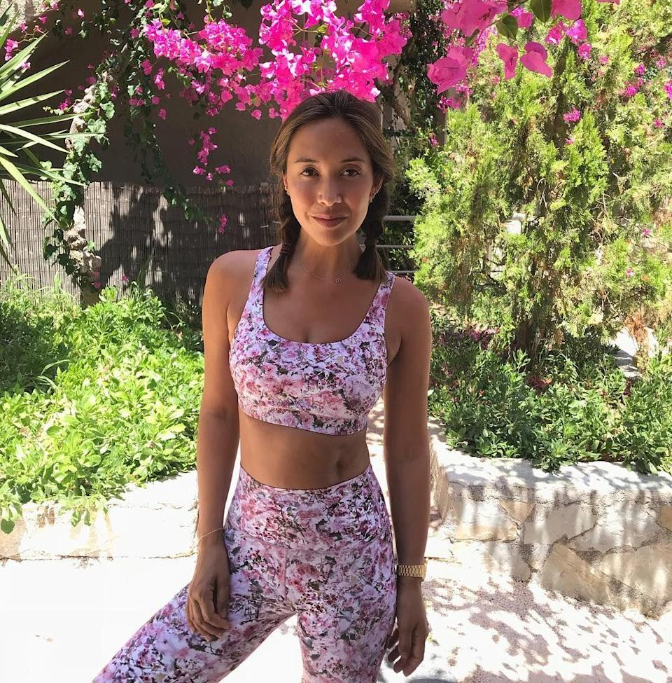 """<p>Myleene is a presenter, model and mother—and so working out, for her, means sweaty sessions that she can fit in whilst caring for her girls. Enter stage right, trainer and boxer Pete Liggins from Box Clever Sports, who takes Myleene through her favourite <a href=""""https://www.womenshealthmag.com/uk/fitness/g702110/myleene-klasss-core-workout/"""" rel=""""nofollow noopener"""" target=""""_blank"""" data-ylk=""""slk:boxing-inspired core workout"""" class=""""link rapid-noclick-resp"""">boxing-inspired core workout</a>. </p>"""