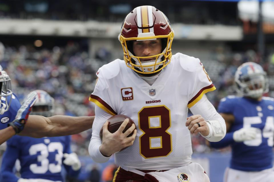 Kirk Cousins hopes to be a few days away from another huge payday as an NFL quarterback. (AP)