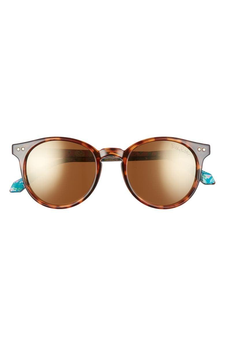 <p>These <span>Lilly Pulitzer Elodie Polarized Round Sunglasses</span> ($48) are classics.</p>