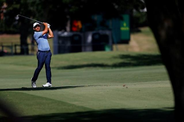 Schauffele edged out of the pack to take a one-shot lead (AFP Photo/RONALD MARTINEZ)