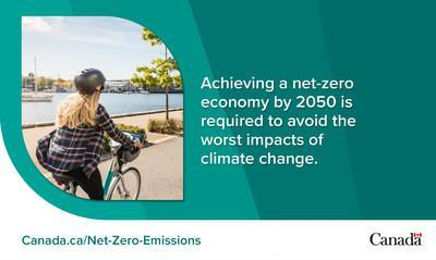 Achieving a net-zero economy by 2050 is required to avoid the worst impacts of climate change. (CNW Group/Environment and Climate Change Canada)