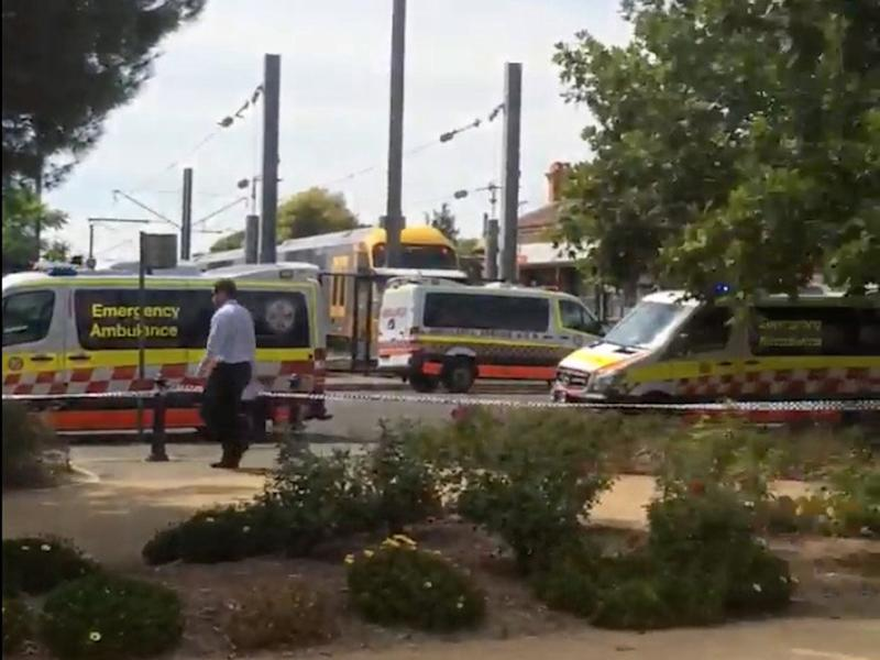 Ambulances arrive at the Richmond Station where a train crashed into buffers, injuring passengers: Reuters
