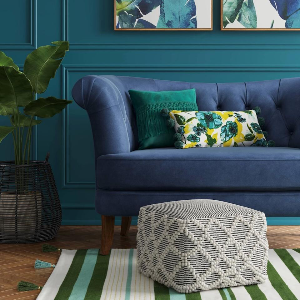 """<p>If your living room or bedroom feels a little empty, incorporate texture with the <a href=""""https://www.popsugar.com/buy/Lory-Pouf-Opalhouse-474313?p_name=Lory%20Pouf%20by%20Opalhouse&retailer=target.com&pid=474313&price=47&evar1=casa%3Auk&evar9=46443084&evar98=https%3A%2F%2Fwww.popsugar.com%2Fhome%2Fphoto-gallery%2F46443084%2Fimage%2F46443086%2FLory-Pouf-Opalhouse&list1=target%2Cfurniture&prop13=api&pdata=1"""" rel=""""nofollow"""" data-shoppable-link=""""1"""" target=""""_blank"""" class=""""ga-track"""" data-ga-category=""""Related"""" data-ga-label=""""https://www.target.com/p/lory-pouf-opalhouse-153/-/A-53089771?preselect=53842867#lnk=sametab"""" data-ga-action=""""In-Line Links"""">Lory Pouf by Opalhouse </a> ($47, originally $50).</p>"""