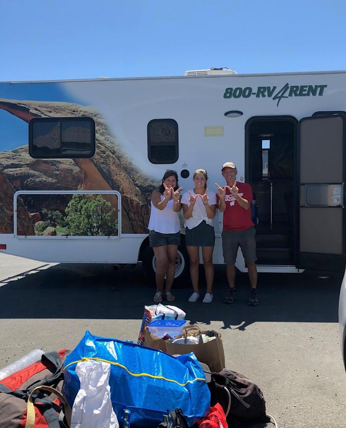 Laurie, Lindsay and Scott Dubin hit the road to drop their daughter off at UW-Madison for the start of the fall 2020 semester.