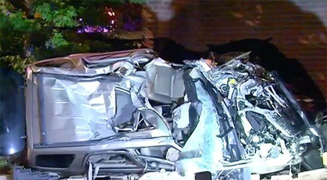 A 30-year-old was trapped in the car for an hour. Source: 7 News