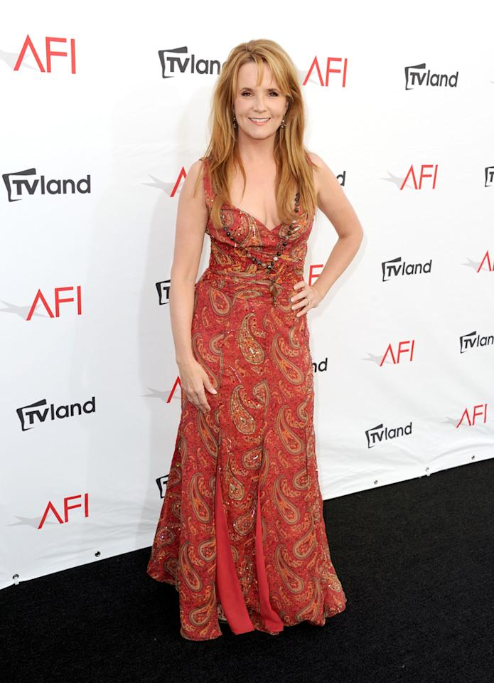 Lea Thompson arrives at AFI's 40th Annual Life Achievement Award held at Sony Pictures Studios on June 7, 2012 in Culver City, California.